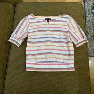 J. Crew striped cotton retro top size 00